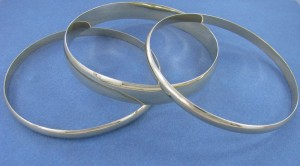 Gold D-Shaped Bangles